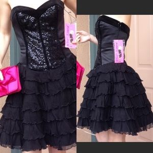 Real real Corset Ruffle Formal Prom Cupcake Sequin