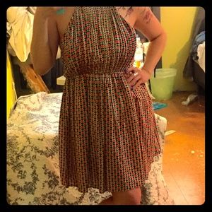 Ara Dresses & Skirts - Aztec print chiffon lined back zip flirty dress