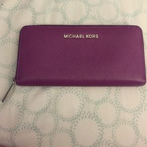 Michael Kors Continental Purple zip-around Wallet