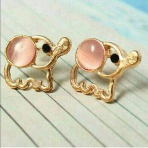 Jewelry - _Pink Baby Elephant Earrings