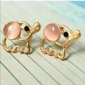 Jewelry - Pink Baby Elephant Earrings