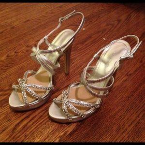 Aldo metallic silver formal heel