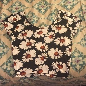 Daisy Printed Crop Top