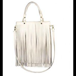 B-Low the Belt Handbags - B-Low the Belt's TWIGGY fringed handbag in bone