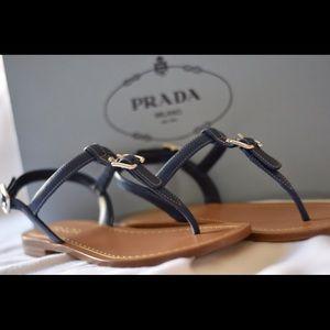 Prada Saffiano Sandals