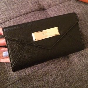DKNY Black Black Envelope Wallet