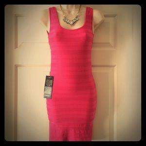 bebe Dresses & Skirts - Bebe bodycon bubble gum pink dress
