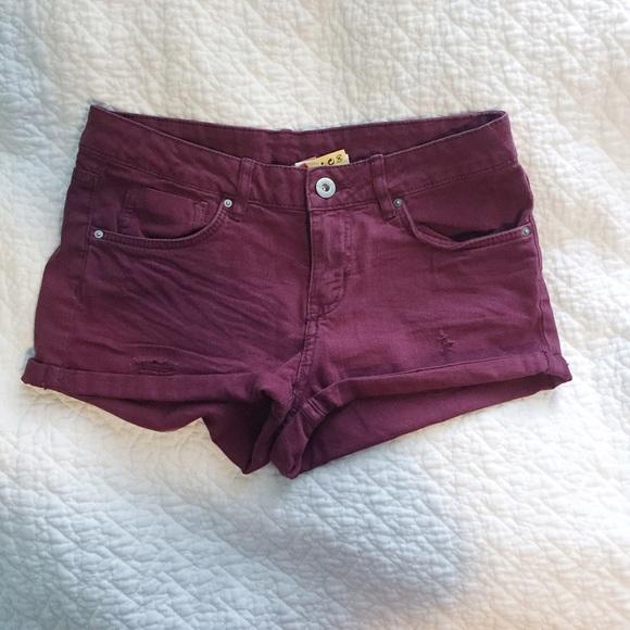 24% off H&M Denim - H & M Maroon Denim Shorts from Rachel's closet ...
