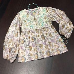 Calypso St. Barth Tops - Calypso embroidered halter tunic