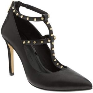 Banana Republic Adelia T-Strap Shoe (Black)