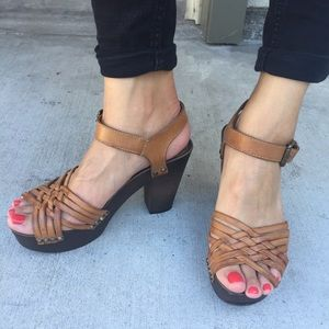 H&M Shoes - Basket Weave Heels