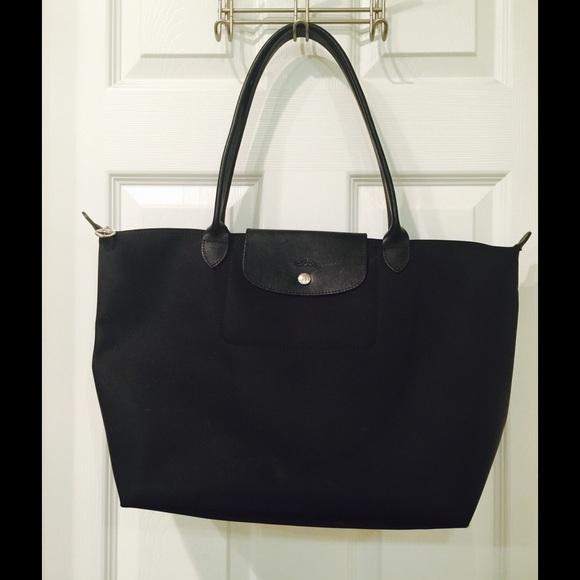 65e1f0551e56 Longchamp Handbags - longchamp black large le pliage neo shoulder bag