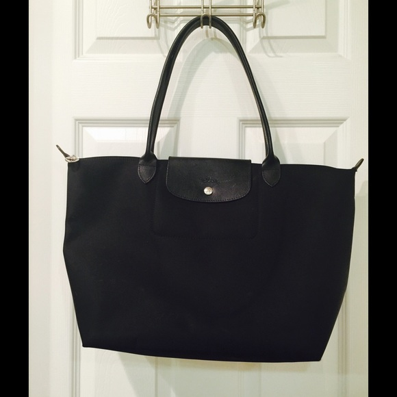 Longchamp Handbags - longchamp black large le pliage neo shoulder bag 89a2c5ebd1