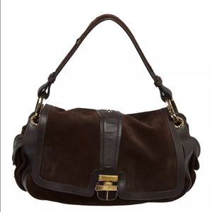 Jimmy Choo Bags - Jimmy Choo Chocolate Brown Leather Suede Purse Bag e9f6db3980d2c