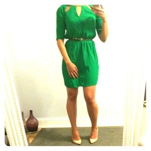 Emerald green BCBG dress