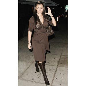Jimmy Choo Shoes - Jimmy Choo Brown Knee-high Boots - Kim Kardashian