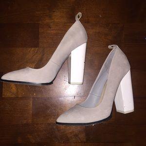 ALDO Shoes - Grey and white block heels