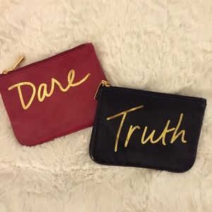 "Rebecca Minkoff Clutches & Wallets - ""Truth"" and ""Dare"" Rebecca Minkoff leather pouches"