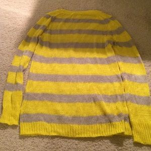 J. Crew Sweaters - J Crew Yellow and Grey Striped Sweater
