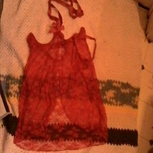 Other - NWOT Topless red lingerie