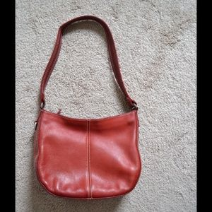 Fossil all leather shoulder bag