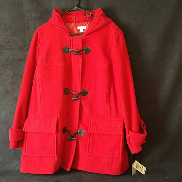9a34cd16016 NWT CHARTER CLUB CANDY APPLE RED WINTER COAT SZ18W NWT