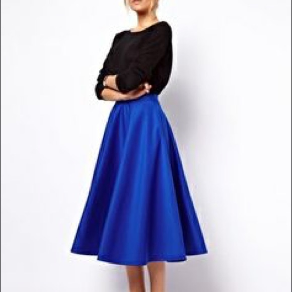 70% off J. Crew Dresses & Skirts - J Crew royal blue silk midi ...