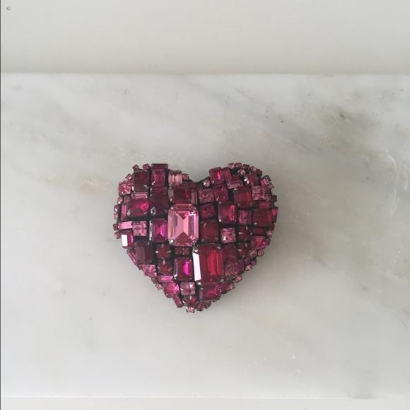 7df51112059 Rhinestone heart brooch. M 55d350122784934bb30040bd. Other Accessories ...