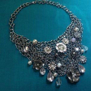 Jewelry - * Sale* Silver Bib Necklace