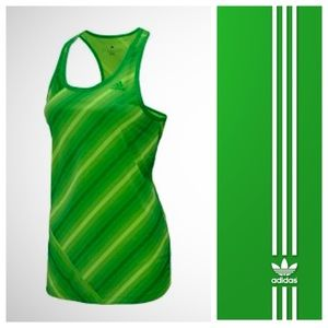 Adidas Striped Racerback Top XL