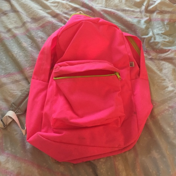 2bc3fe9f79 American Apparel Handbags - American Apparel Neon Pink Backpack💗