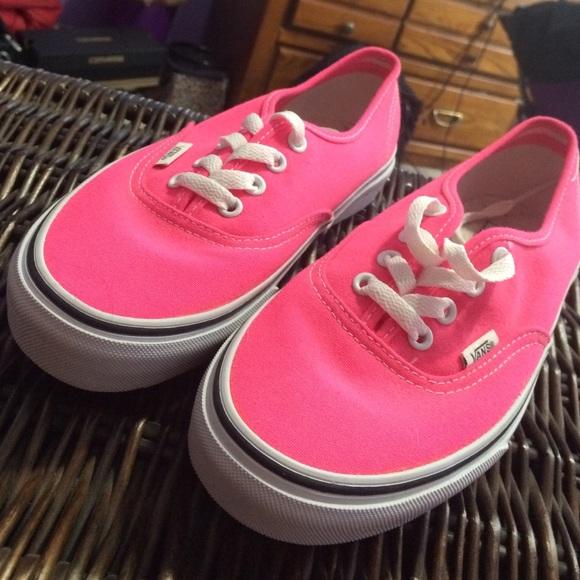 Vans Shoes | Bright Pink Vans | Poshmark
