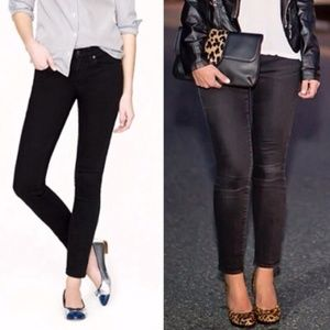 J. Crew Black Toothpick Ankle Pants