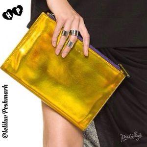 Rebecca Minkoff Handbags - 🎉HP🎉REBECCA M. Royal Triple Pouch yellow laser