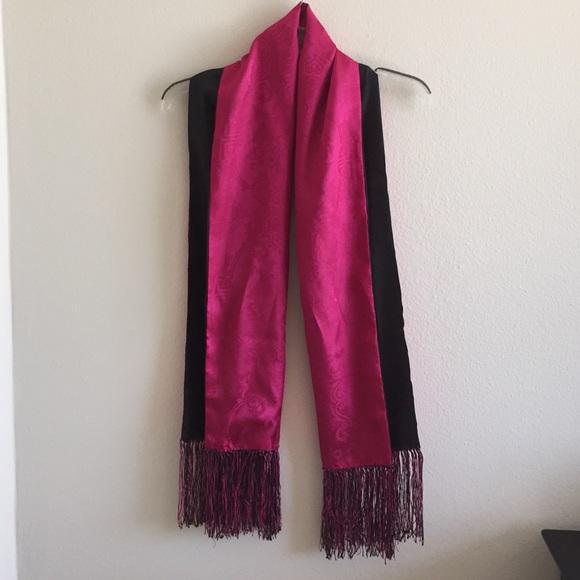 Silk amp; Shanghai Black Pink Scarf Tang 100