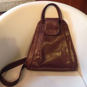 Greca leather Handbags - Genuine Leather Backpack/Tote