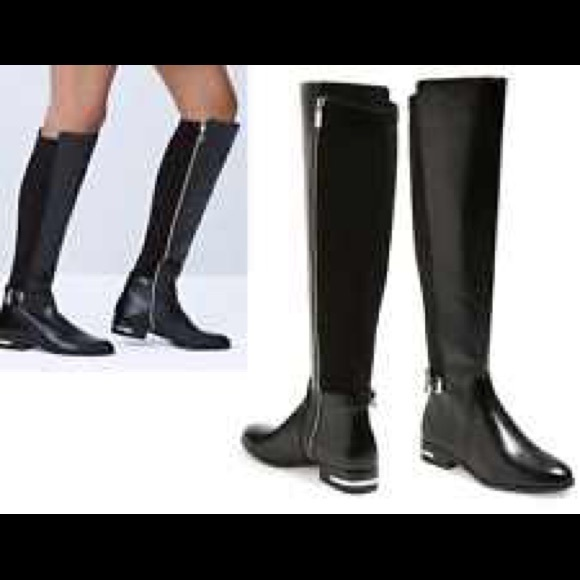 bde6d6cd337b Michael Kors Aileen Tall Stretch Leather Boots. M 55d38e888fe4212624005e5c