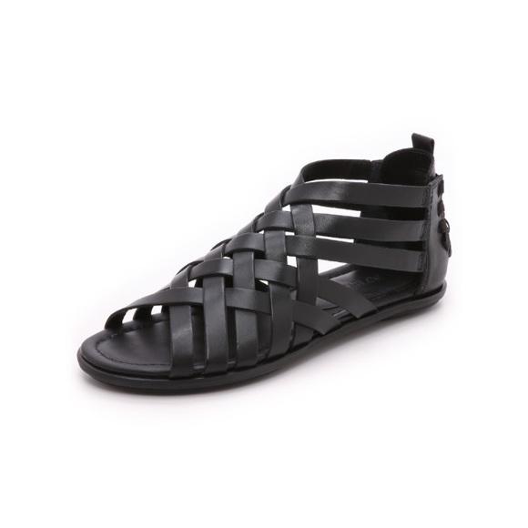 Sneaker Boutique Atelje 71 Leather Sandals Tan Flint Woven