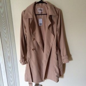 F21 Double Breasted Trench Coat