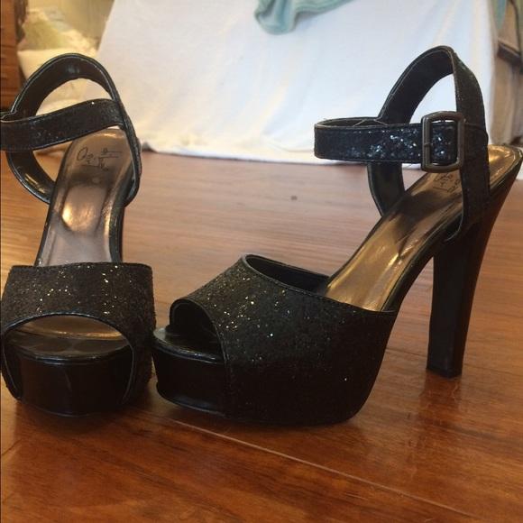 Sequin Heels From Shoe Carnival   Poshmark