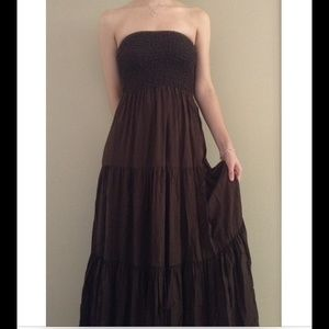 MICHAEL KORS STRAPLESS CHOCOLATE MAXI