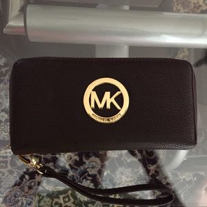 MK Double Zipper Wallet