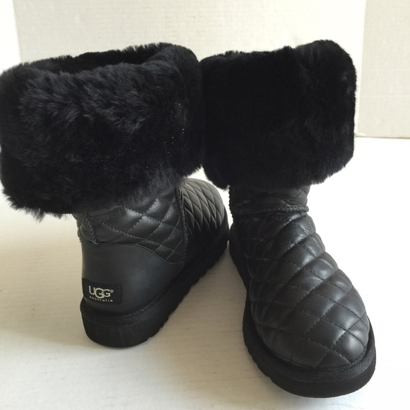 Ugg Shoes Australia Classic Tall Diamond Leather Boots