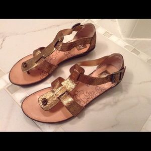 DV by Dolce Vita Bronze Sandals Size 8