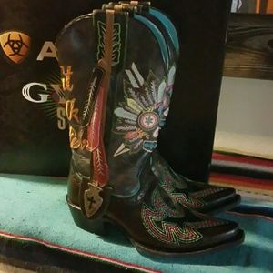 Gypsy Soule Ariat Boots Skull AMAZING 7