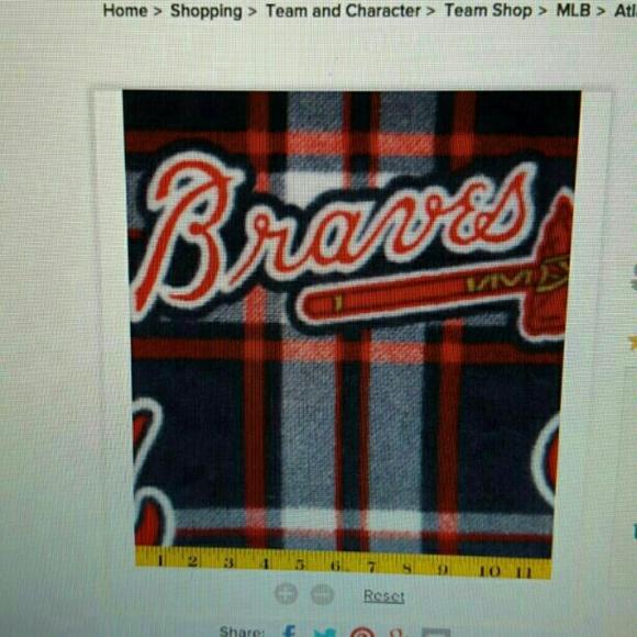 3 yard Atlanta Braves fleece blanket
