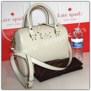 New Kate Spade white leather Alessa Satchel