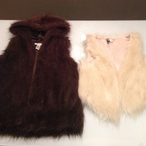 Outerwear - 2 faux fur vests