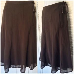 SALE! REDUCED! H&M dressy, brown, flowy skirt