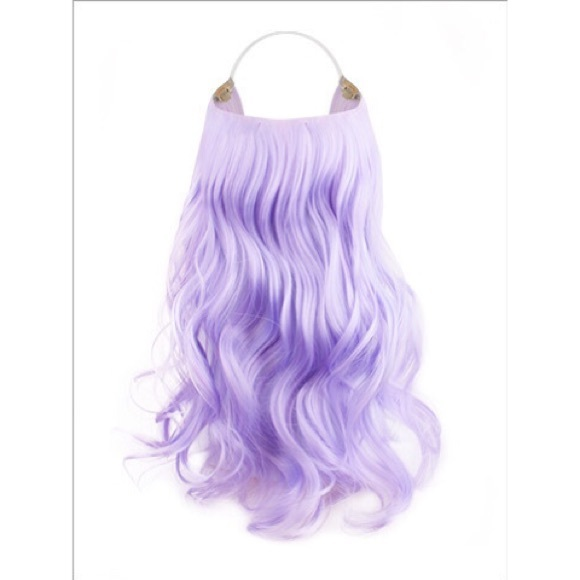 Lord Cliff Other Lavender Lilac 18 Curly Halo Hair Extensions